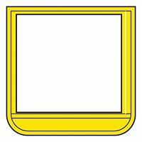 差替楽々・ポケット胸章 60×60 黄 (368-13)