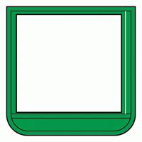 差替楽々・ポケット胸章 60×60 緑 (368-14)