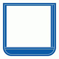 差替楽々・ポケット胸章 60×60 青 (368-16)