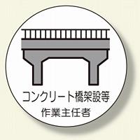 作業主任者ステッカー コンクリート橋 (370-40)