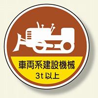 作業管理ステッカー車両系建設機械3t以 (370-98A)