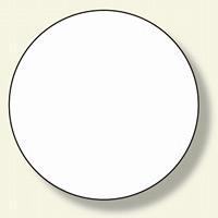 ヘルメット用ステッカー 白無地 (371-01)