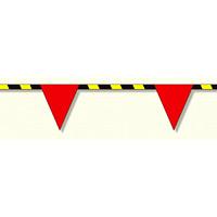 トラロープ付三角旗 (9連) (372-73)