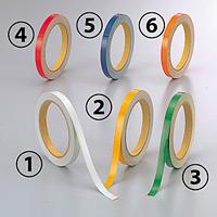 反射テープ (セパ付) 10mm幅×10m巻 (2巻1組) カラー:(1)白 (374-30)
