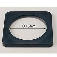 カラーコーン用ウエイト (700mmH用) 黒・ゴム製2kg (385-41)