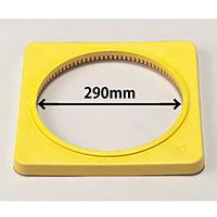 カラーコーン用ウエイト (700mmH用) 黄・ポリエチレン製1.5kg (385-42)
