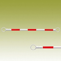 スライドバー (伸縮タイプ) (赤白) 赤色部反射 40Ф (外) ×1200~2000mm (385-65)