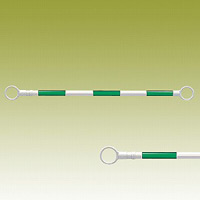 スライドバー (伸縮タイプ) (緑白) 緑色部反射 40Ф (外) ×1200?2000mm (385-66)