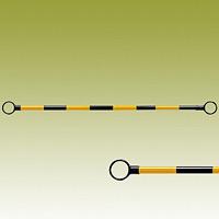 スライドバー (伸縮タイプ) (黄黒) 黄色部反射 40Ф (外) ×1200~2000mm (385-67)
