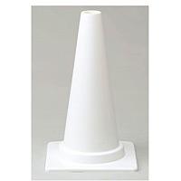 ミニカラーコーン 白 450mmH (385-84)
