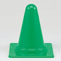 ミニミニカラーコーン 緑 300mmH (385-88)
