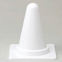 ミニミニカラーコーン 白 300mmH (385-90)