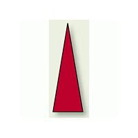 ゲージマーカー 三角シール 赤 15×5 1シート100枚入 (446-81)