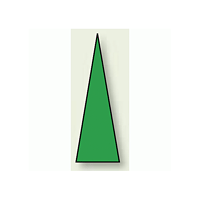 ゲージマーカー 三角シール 緑 15×5 1シート100枚入 (446-82)