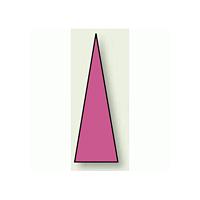 ゲージマーカー 三角シール 蛍光赤 15×5 1シート100枚入 (446-83)