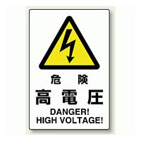 危険 高電圧 エコユニボード 450×300 (802-491)