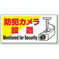 標識 防犯カメラ設置 エコユニボード 200×400 (802-60)