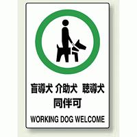 JIS規格安全標識 (ステッカー) 盲導犬 介護犬・・ 5枚入 (803-58A)