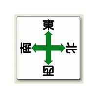 玉掛関係標識 東西南北 鉄板 600×600 (804-90)