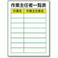 作業主任一覧表 エコユニボード 600×450 (808-30)