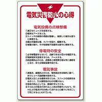 電気災害防止の心得 エコユニボード 900×600 (808-42)