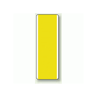 黄無地 短冊型標識 (タテ) 360×120 (811-36)