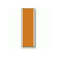 橙無地 短冊型標識 (タテ) 360×120 (811-39)