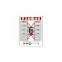 緊急連絡表ボード 600×450 (814-58)