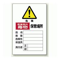 医薬用外毒物 保管場所 鉄板 (普通山) 450×300 (814-68A)