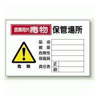 医薬用外毒物 保管場所 鉄板 (普通山) 300×450 (814-70A)