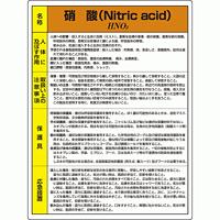 硝酸  特定化学物質標識 600×450 (815-19A)