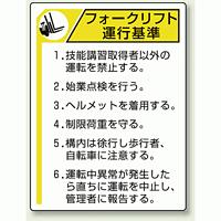 フォークリフト 運行基準 エコユニボード 600×450 (816-35)