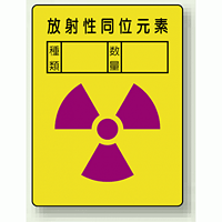 放射性同位元素 PP ステッカー 200×150 (2枚1組) (817-61)