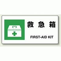 JIS規格安全標識 横長ボード 救急箱 (818-18A)