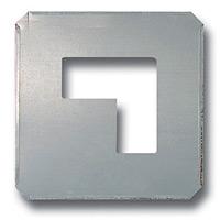 吹付け用プレート 区切り 亜鉛メッキ板 240×240 (819-31A)