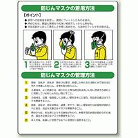 防じんマスクの着用方法 エコユニボード 600×450 (820-26)
