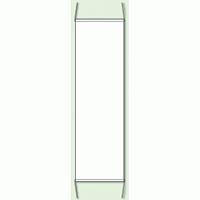 白 無地 防犯たれ幕 サイズ:(大)H1500×W450mm (823-411)