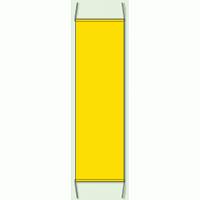 黄色 無地 防犯たれ幕 サイズ:(大)H1500×W450mm (823-421)