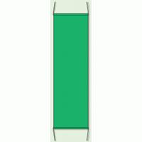 蛍光グリーン 無地 防犯たれ幕 サイズ:(大)H1500×W450mm (823-431)