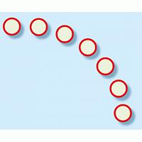 避難経路確保標識 7枚1組 扉ガイドシール 蓄光ステッカー 赤 (824-58)