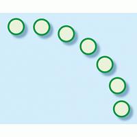 避難経路確保標識 7枚1組 扉ガイドシール 蓄光ステッカー 緑 (824-59)