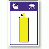 高圧ガス関係標識 塩 素 ボード 450×300 (827-41)