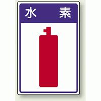 高圧ガス関係標識 水 素 ボード 450×300 (827-43)