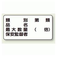 横型標識 種別 品名 最大数量 鉄板 300×600 (828-54)