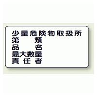 横型標識 少量危険物取扱所 鉄板 300×600 (828-58)
