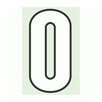 路面用番号表示 0 合成ゴム 280×1.2mm厚 (834-50)