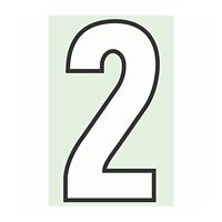 路面用番号表示 2 合成ゴム 280×1.2mm厚 (834-52)