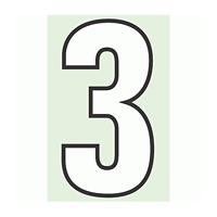 路面用番号表示 3 合成ゴム 280×1.2mm厚 (834-53)