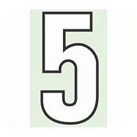 路面用番号表示 5 合成ゴム 280×1.2mm厚 (834-55)