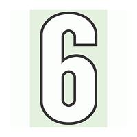 路面用番号表示 6 合成ゴム 280×1.2mm厚 (834-56)